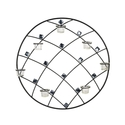 Elements 24-inch Round Diamond Gem Seven-Light Sco