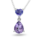 Miadora Sterling Silver Amethyst and Tanzanite Nec