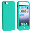 Green Silicone Case with Home Button for Apple iPh