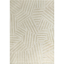 Hand-tufted Puzzle Off-white Rug (8' x 11&apo