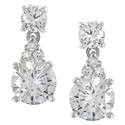 Tressa Sterling Silver Cubic Zirconia Drop Earring