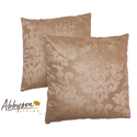 Eternity 18-inch Gold Decorative Pillows (Set of 2