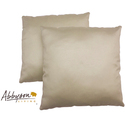 Charmant 18-inch Cream Decorative Pillows (Set of