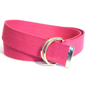 Women's Fuchsia Cotton Canvas Double Hoop Bel