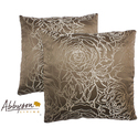 Athena 18-inch Taupe Decorative Pillows (Set of 2)