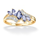 Angelina D'Andrea Gold over Silver Tanzanite