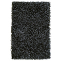 Safari Black/ White Shaggy Rug (8' x 10'