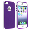 Purple/ White Bumper TPU Rubber Skin Case for Appl