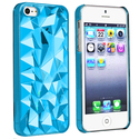 Clear Blue Diamond Cut Snap-on Case for Apple?? iP