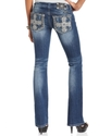 Jeans, Bootcut Medium-Wash Rhinestone Embroidered 