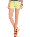 Celebrity Pink Juniors Shorts, Colored Denim Cuffe