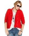 Jeans Plus Size Jacket, Motorcycle