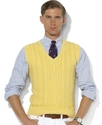 Polo Ralph Lauren Vest, Cotton-Cashmere V-Neck Cab