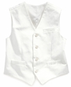 Kids Vest, Boys White Linen vest