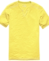 T Shirt, Monte Split Neck Tee