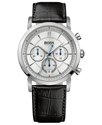 Watch, Men&#39;s Chronograph Black Calfskin Leather St