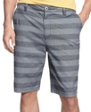 Shorts, Stripe Flat Front Shorts
