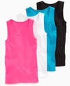 Kids Shirts, Girls Seamless Ribbed Tank Tops