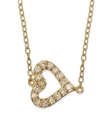18k Gold Over Sterling Silver Necklace, Cubic Zirc