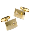 Cufflinks, Classic Offset Crystal Cufflinks Boxed