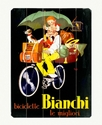 Wall Art, Bianchi Bicycle Wooden Sign