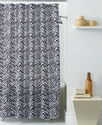 WaterShed Bath Accessories, Zebra Shower Curtain