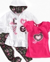 Baby Set, Baby Girls 3-Piece Love Set
