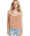 GUESS Top, Sleeveless Scoop-Neck Tank