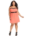 Plus Size Dress, Sleeveless Sweetheart-Neck A-Line