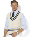 Polo Ralph Lauren Vest, Cotton-Blend Cricket Cable