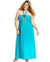 Plus Size Dress, Halter Maxi Beaded