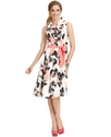 Dress, Sleeveless Ruffled Floral-Print