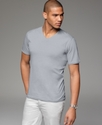 T Shirt, Raw Edge V-Neck Tee