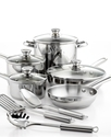 Stainless Steel Cookware, 12 Piece Set
