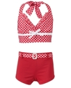 Kids Swimsuit, Girls Whole-Hearted Halter Bikini