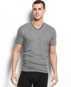 Men's Underwear, Short Sleeve Striped V Neck T Shi