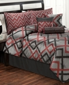 Tihany 7 Piece Full Jacquard Comforter Set Bedding