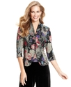 Jacket &amp; Cami, Three Quarter Sleeve Floral Printed