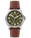Watch, Men's Brown Leather Strap 241309