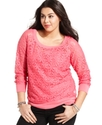 Plus Size Top, Long-Sleeve Lace