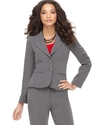 Petite Blazer, Long Sleeve Double Button