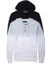 Hoodie, Striped Hooded Henley