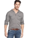 Shirt, Button Hooded Henley