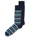 Polo Ralph Lauren Men&#39;s Socks, Dress Multi Stripe 