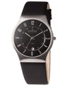 Watch, Men's Black Leather Strap 233XXLSLB