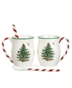 Dinnerware, Set of 2 Christmas Tree Peppermint Mug