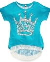 Kids Shirts, Girls Lace-Trim Graphic Tees