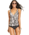 Swimsuit, Printed Tiered Tankini Top Women's Swims