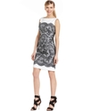 Dress, Sleeveless Lace-Print Sheath