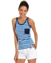 Juniors Top, Sleeveless Striped Tank